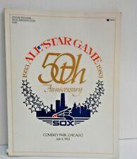 1983 MLB All Star Game Program Chicago Comiskey park cover
