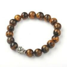 Tigers Eye Bead Buddha Bracelet