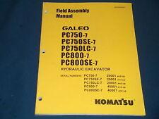 KOMATSU PC750-3 PC750LC-3 PC800-7 SE-7 EXCAVATOR FIELD ASSEMBLY MANUAL