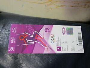 London 2012 Olympics Athletics Track and Field Full Ticket 3