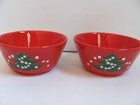 "Waechtersbach Christmas Tree Red - W Germany - Set of 2 - 5"" Bowls"