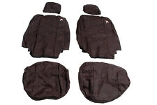 LAND ROVER DEFENDER 110 2007-ON FRONT SEATS WATERPROOF SEAT COVERS SET BLACK