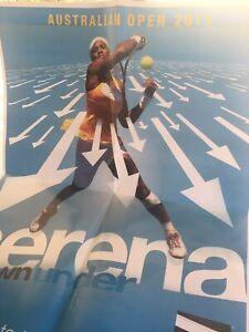 RARE SERENA WILLIAMS TENNIS CHANNEL AUSTRALIAN OPEN 2011 Poster 21X28 NEW