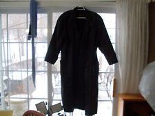 Pelle New York Milano Women's Genuine Leather Long Black Coat  Size M
