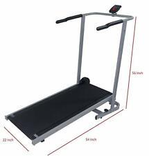 Manual Treadmill Incline Cardio Machine Portable Folding Walking Running