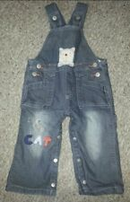 Pumpkin Patch I Love My Cat Denim Overalls Size 6-12 months Flannel Lined
