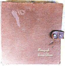 """78 RPM 10"""" Record Album Sammelmappe Halter Buch Akkordeon Stil Hält 10"""