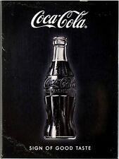 Coca Cola black Nostalgie Kühlschrank Magnet 6x8 cm Tin Sign EMAG401
