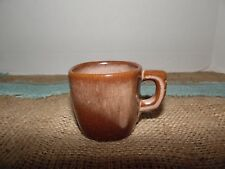 Frankoma Pottery Brown Satin Plainsman 5C Coffee Cup Mugs 5oz