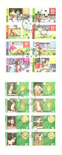 STAFFA (SCOTLAND) 2 CINDERELLA SHEETS 8 STAMPS EACH TENNIS SOCCER CANC. 1977/78
