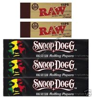 SNOOP DOGG KING SIZE ROLLING PAPERS AND RAW ROACH TIPS