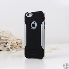 Dual Blade Soft Case For Apple iPhone 6 4.7 Plastic+Silicone Back Cover Silver