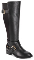 $99 size 9 Thalia Sodi Vada Black Knee High Riding Boots Womens Shoes NEW