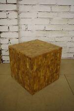 Bali Tisch Hocker Ablagefach Kiste Patchwork Holz Handarbeit