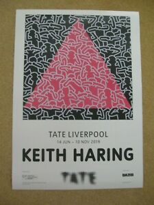 KEITH HARING - Original Exhibition Poster (2) - Tate Liverpool (2019)