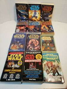 Lot of 12 Star Wars Books - Timothy Zahn, Michael A Stackpole... - Paperback