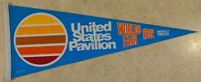 World Fair 1982 Knoxville Tennessee United States Pavilion Vintage Pennant