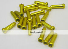 6 X Alligator 1.8mm Inner Cable End Cap Tip Cover Gold