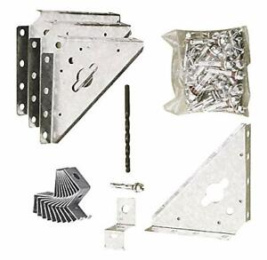Arrow Shed Includes Clips and Shields for Storage Shed Anchoring, Metal, Оne