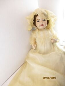 """Reproduction JDK Hilda 1914 20"""" porcelain/ Bisque baby doll Glass eyes, teeth"""