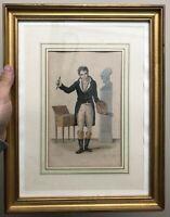 Gravure David Peintre Ancien Autoportrait XIXeme Empire Painting