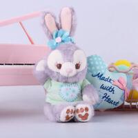 Disney Duffy Bear Friend Stella Lou rabbit Plush Toy keychain ring 9CM