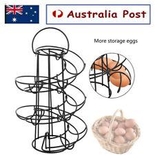 Spiral Kitchen Egg Storage Helter Egg Holder Stand Rack Holds 18 Eggs