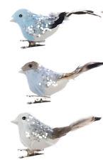 6 X Variés à Clipser Oiseau Scintillant Ailes Décoration Sapin de Noël Marriage