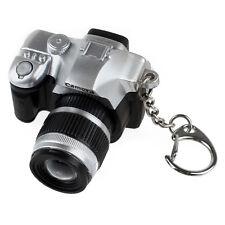 Mini Digital SLR Camera Style LED Flash Light Lock Sound Key Ring (Random C S4D2