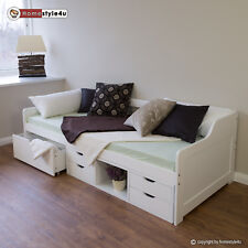 Kinderbett Funktionsbett Bett Jugendbett Kojenbett Einzelbett 90x200 Kiefer weiß
