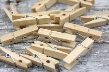 24 x natur Wäscheklammern Holz Klammern XL 35x10mm