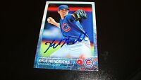 Kyle Hendricks Chicago Cubs Signed Autographed Auto 2015 Topps series 2 card