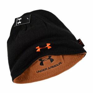 UA Men Women Reversible Beanie Winter Hat Knitted Hat Neutral Warm Ski Sport Cap