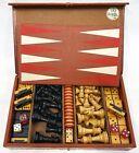 Royal Games Multi Game Set Chess Checkers Backgammon Dovetail Bakelite Dominoes