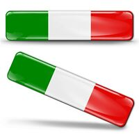 2 x 3D Aufkleber Italien 3D Gel Fahne Flagge Italy Flag Stickers Decals Car F 13
