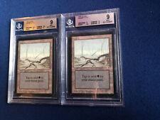 MTG ALPHA X2 Swamps BGS 9 Quad+ MINT and 9 Quad++ Mint 1993