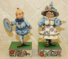 Jim Shore Wizard of Oz Munchkin Set of 2 Wee Welcome 4014984 RARE