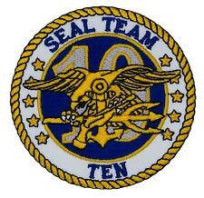 """US Navy - Seal Team 10 Patch (441) 3"""" Round Embroidered Patch 47003"""
