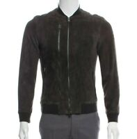 Men Fashion Cowhide Suede Leather Bomber Jacket Available In All Size