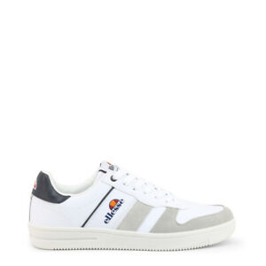 NEW Ellesse Shoes White Logo Low Top Sneakers Trainers EU43/US10