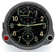 SWISS 8-day cockpit clock JAEGER LeCoultre, 1942-made for Soviet AirForce!