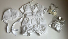 Madonna Boy's 0-3 Months Christening Outfit Shoes Socks Suit Cap Buttons Snaps