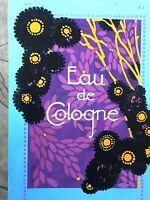 Rare Projet d'Étiquette EAU DE COLOGNE Art Deco & Peinture