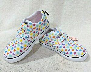Vans Toddler Girl's Doheny V Hearts Multicolor Skate Shoes - Size 6/7/8/9/10 NWB