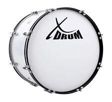 """Marsch Pauke Bass Trommel Marching Drum Große Trommel weiß 22"""" x 12"""" Stadion Fan"""