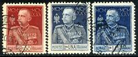 Regno d'Italia 1925/26 Giubileo del Re S37 n. 189/191 - dent. 11 - usati (l273)
