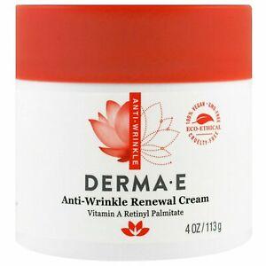Derma E, Anti-Wrinkle Renewal Cream, 4 oz (113 g) Eco-Ethical 100% Vegan