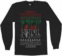 The Upside Down Stranger Things Ugly Christmas Men's Long Sleeve T-Shirt