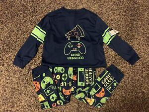Boys Flannel Coat style Pajamas Sleepwear Skull Rock /& Roll NWT PJ/'s 4-5  XS