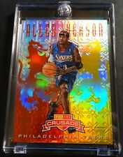 2012 ALLEN IVERSON #89 PANINI CRUSADE RED & GOLD PRIZM REFRACTOR SIXERS 49/99